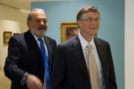Con Carlos Slim y Bill Gates