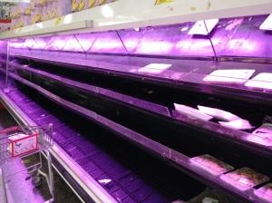 Zona de venta de pollo del supermercado Excelsior Gama, Caracas.
