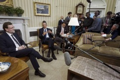 Rajoy con Obama, White House (2014)